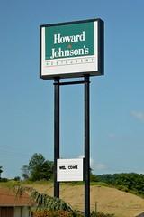 Sign for Howard Johnson's Restaurant