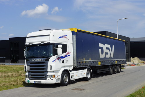 Scania R 500 V8 DSV met kenteken KH 1242 BM in Bemmel 21-06-2020