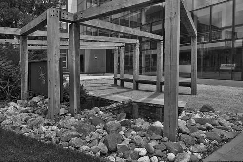 pergola in environmental garden Belfield