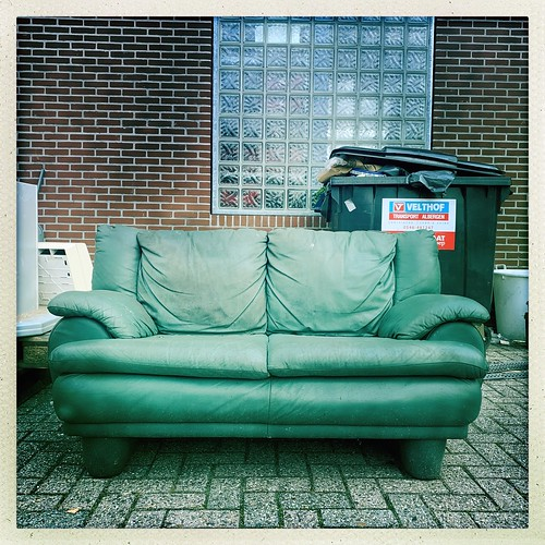 Green lost couch.