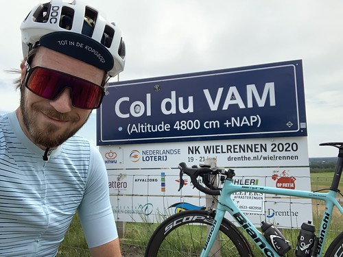 Trip to the 'Col du VAM' today. Climbed it 5 times and then headed home again. Just over 100km in total.