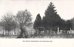 Mt. Hope Cemetery, Woodsboro, Maryland, Postcard, Circa 1918