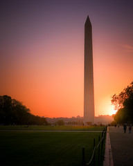 Sunset on the Washington Monument