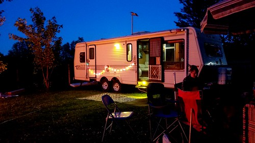 The new camper worked.nice for overnight guests