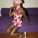 Honey Davenport Pink Hair and Outfit at Home-358