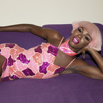 Honey Davenport Pink Hair and Outfit at Home-312