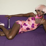Honey Davenport Pink Hair and Outfit at Home-300