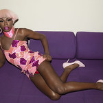 Honey Davenport Pink Hair and Outfit at Home-241