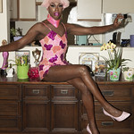 Honey Davenport Pink Hair and Outfit at Home-226