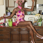 Honey Davenport Pink Hair and Outfit at Home-225