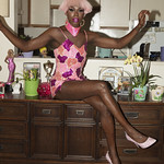 Honey Davenport Pink Hair and Outfit at Home-223