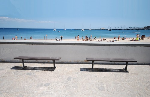 Two Sunbathing Benches