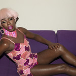 Honey Davenport Pink Hair and Outfit at Home-281