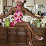 Honey Davenport Pink Hair and Outfit at Home-229