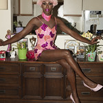 Honey Davenport Pink Hair and Outfit at Home-227