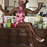 Honey Davenport Pink Hair and Outfit at Home-224