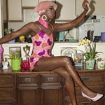 Honey Davenport Pink Hair and Outfit at Home-219