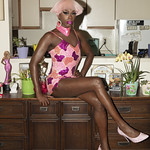 Honey Davenport Pink Hair and Outfit at Home-213