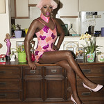 Honey Davenport Pink Hair and Outfit at Home-212