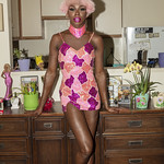 Honey Davenport Pink Hair and Outfit at Home-201