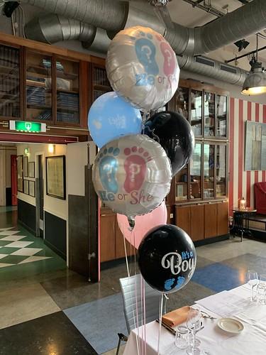 Ballonboeket Gender Reveal Party Hotel New York Rotterdam