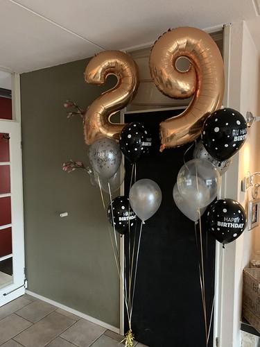 Ballonboeket Verjaardag 29 Jaar