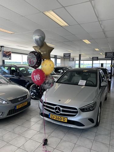 Ballonboeket Verjaardag 16 Jaar Autobedrijf Jaap Eindhoven