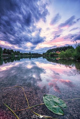 Sunset Aichwaldsee
