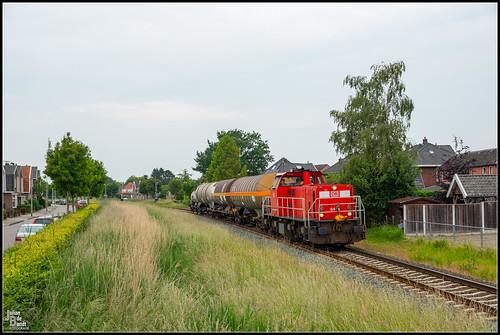 10-06-20 DB Cargo 6416 + KLK Kolb Afvoer trein, Delden