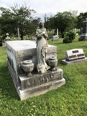 Female statue on Latino family tomb, Rock Creek Cemetery, Washington, D.C.