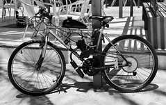 A bike with a combustion engine