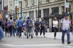A Street Scene, City Centre Downtown, Vancouver June 22, 2020