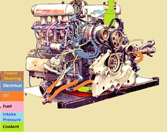 01_30 1996/7 Porsche GTI racing car engine,  On Box 100 expo 50+50 sharp outline colorCode