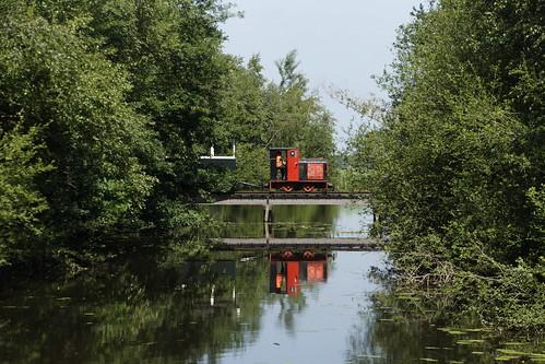 Smalspoor dorpstrein in het Veenpark Barger-Compascuum 23-06-2020