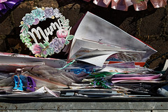 City of London Cemetery and Crematorium disgarded grave tributes detritus 7