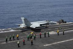 USS Dwight D. Eisenhower (CVN 69) conducts flight operations.