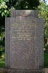 Art Deco gravestone City of London Cemetery Garnham 1948 brighter warmer