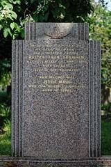 Art Deco gravestone City of London Cemetery Garnham 1948 brighter cooler