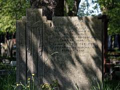 Art Deco gravestone City of London Cemetery Carleton 1935 darker cooler