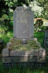 Art Deco graves City of London Cemetery Garnham 1948 darker cooler