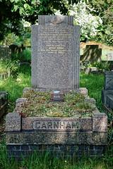 Art Deco graves City of London Cemetery Garnham 1948 brighter cooler