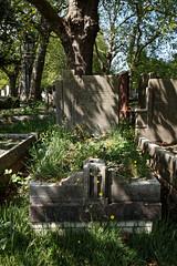 Art Deco grave City of London Cemetery Carleton 1935 darker warmer