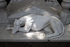 Amos grave City of London Cemetery greyhound sculpture grey veined white marble 1