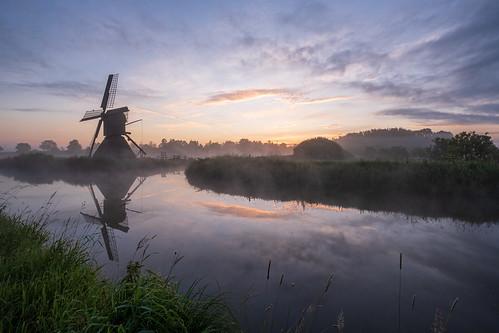 Schöpfmühle bei Sonnenaufgang