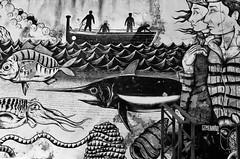 Street Art: Fishing activity
