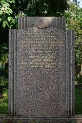 Art Deco gravestone City of London Cemetery Garnham 1948 darker warmer