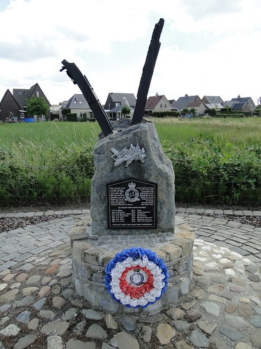 Monument for the crew of Lancaster that crashed in 1944