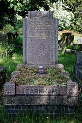 Art Deco graves City of London Cemetery Garnham 1948 darker warmer
