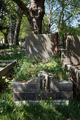 Art Deco grave City of London Cemetery Carleton 1935 brighter cooler