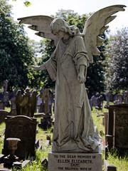Angel monument City of London Cemetery darker warmer